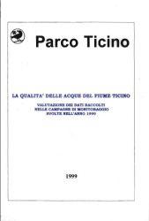 La qualità delle acque del fiume Ticino, 1999 (NON PUBBLICATO)