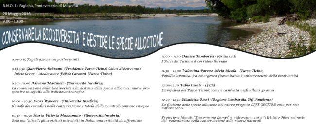 Conservare la biodiversità e gestire le specie alloctone