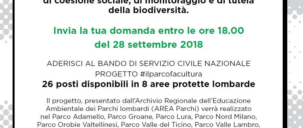 #ilparcofacultura Servizio civile