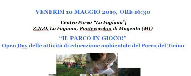 Il Parco in gioco: open day scuole in Fagiana