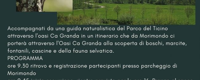 ++ Annullato ++ Wild watching nell'oasi Ca' Granda